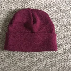 Women's red beanie